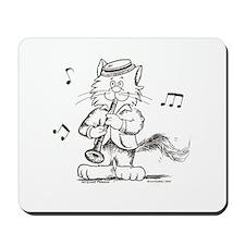 Catoons clarinet cat Mousepad