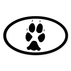 Coyote Track Pawprint Euro Sticker Decal