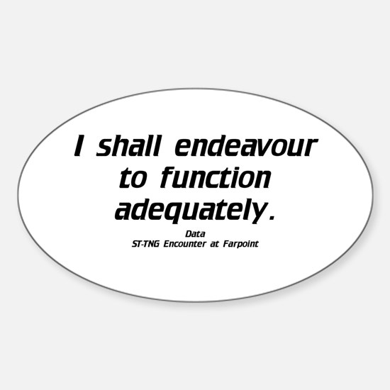 Function Adequately...Light Oval Decal
