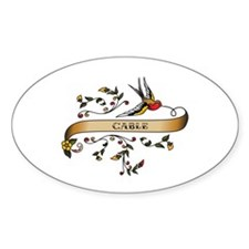 Cable Scroll Oval Decal