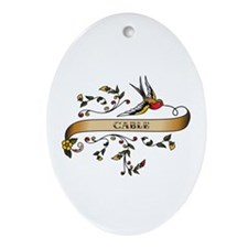 Cable Scroll Oval Ornament