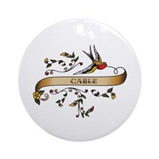 Cable Scroll Ornament (Round)