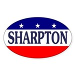 Al Sharpton Oval Bumper Sticker