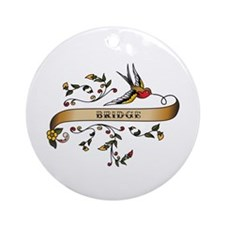 Bridge Scroll Ornament (Round)