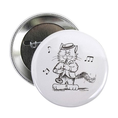 "Catoons clarinet cat 2.25"" Button (100 pack)"