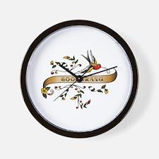 Boomerang Scroll Wall Clock