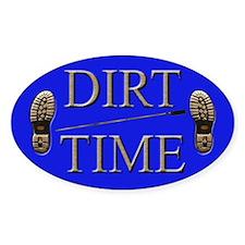 Dirt Time Oval Sticker (50 pk)