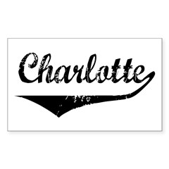 Charlotte Rectangle Decal
