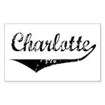 Charlotte Rectangle Sticker