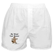 My Wood Your Beaver Boxer Shorts