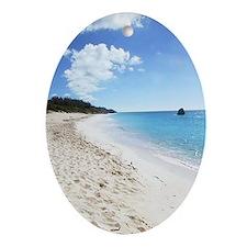 Bermuda Beach - Gift Ornament/Keepsake Oval