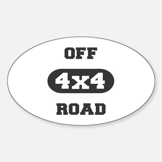 4x4 Off Road Oval Decal
