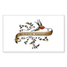 Biomedical Engineering Scroll Rectangle Decal