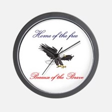 Home of the free... Wall Clock