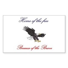Home of the free... Rectangle Decal