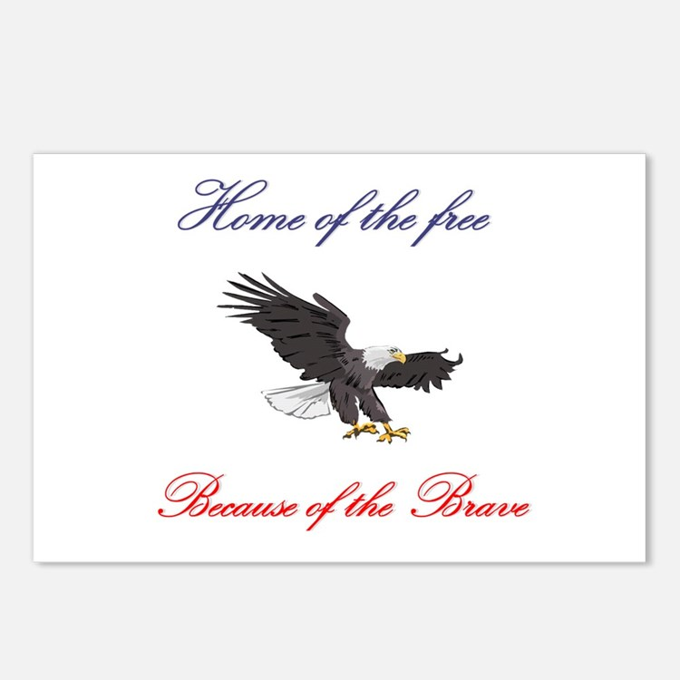 Home of the free... Postcards (Package of 8)
