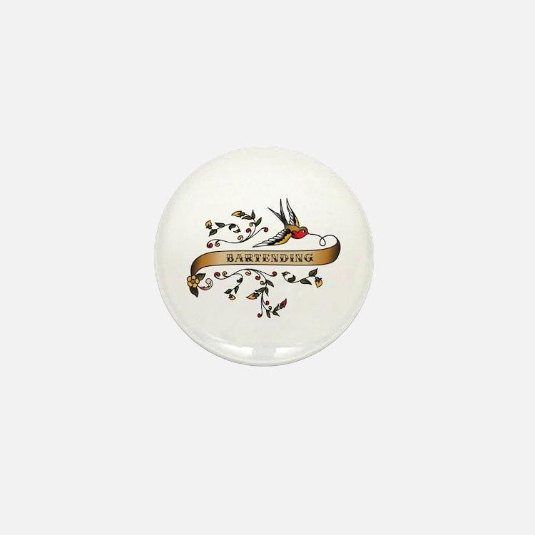 Bartending Scroll Mini Button (10 pack)