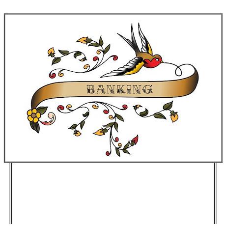 Banking Scroll Yard Sign