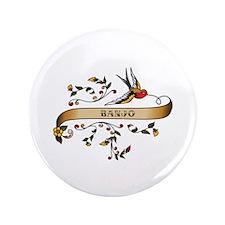"Banjo Scroll 3.5"" Button (100 pack)"