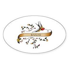 Banjo Scroll Oval Sticker (10 pk)