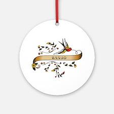 Banjo Scroll Ornament (Round)