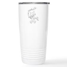 Flute Cat Travel Coffee Mug