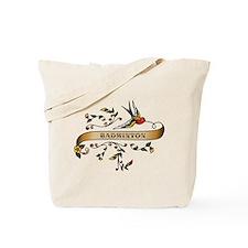 Badminton Scroll Tote Bag