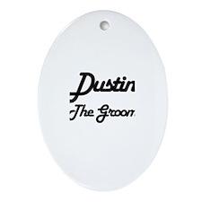 Dustin - The Groom Oval Ornament