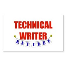 Retired Technical Writer Rectangle Decal