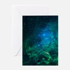 Flaming Star Nebula Greeting Cards