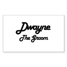 Dwayne - The Groom Rectangle Decal