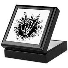 Rock in Bone Splat Keepsake Box