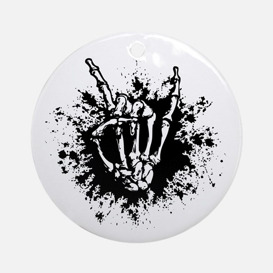 Rock in Bone Splat Ornament (Round)