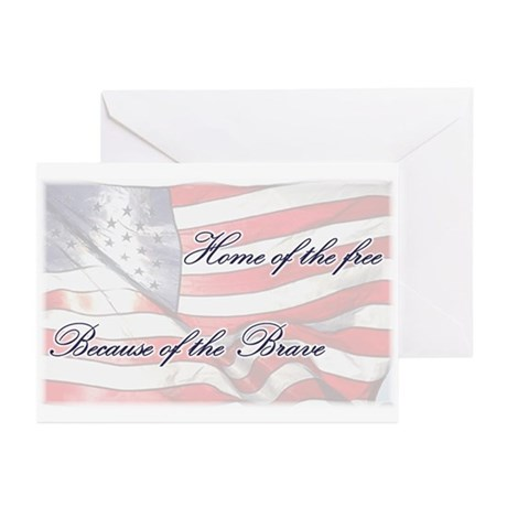 Home of the free... Greeting Cards (Pk of 20)