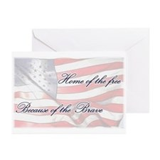 Home of the free... Greeting Cards (Pk of 10)