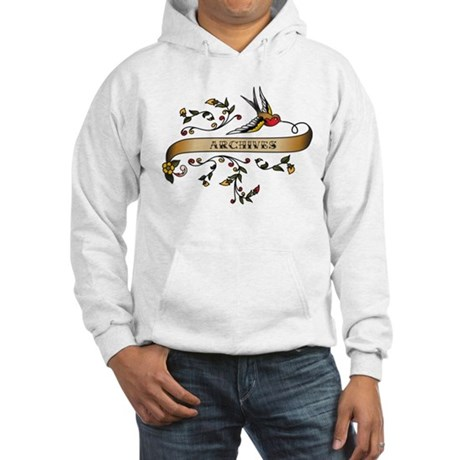 Archives Scroll Hooded Sweatshirt