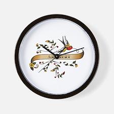 Archery Scroll Wall Clock