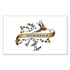 Appraisals Scroll Rectangle Decal