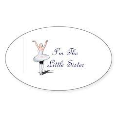 Little Sister Oval Sticker (10 pk)
