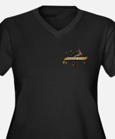 Amateur Radio Scroll Women's Plus Size V-Neck Dark