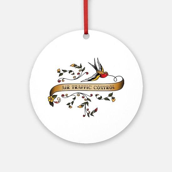 Air Traffic Control Scroll Ornament (Round)