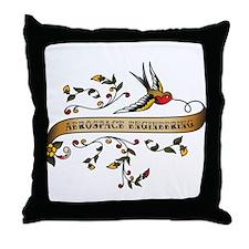 Aerospace Engineering Scroll Throw Pillow