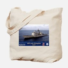 USS Lake Champlain CG-57 Tote Bag