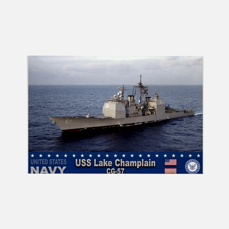 USS Lake Champlain CG-57 Rectangle Magnet