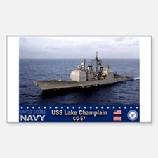 USS Lake Champlain CG-57 Rectangle Decal