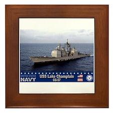 USS Lake Champlain CG-57 Framed Tile