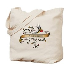 Aerobics Scroll Tote Bag