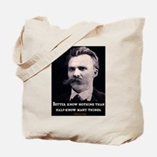NEITZSCHE QUOTE Tote Bag