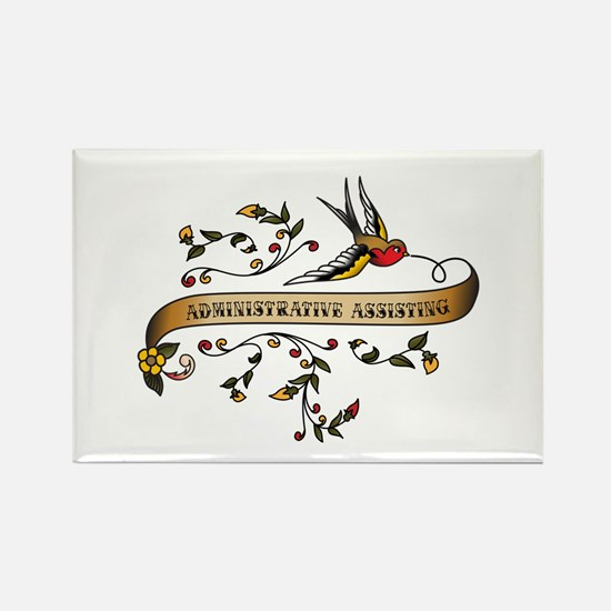 Administrative Assisting Scroll Rectangle Magnet