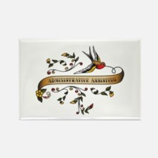 Administrative Assisting Scroll Rectangle Magnet (
